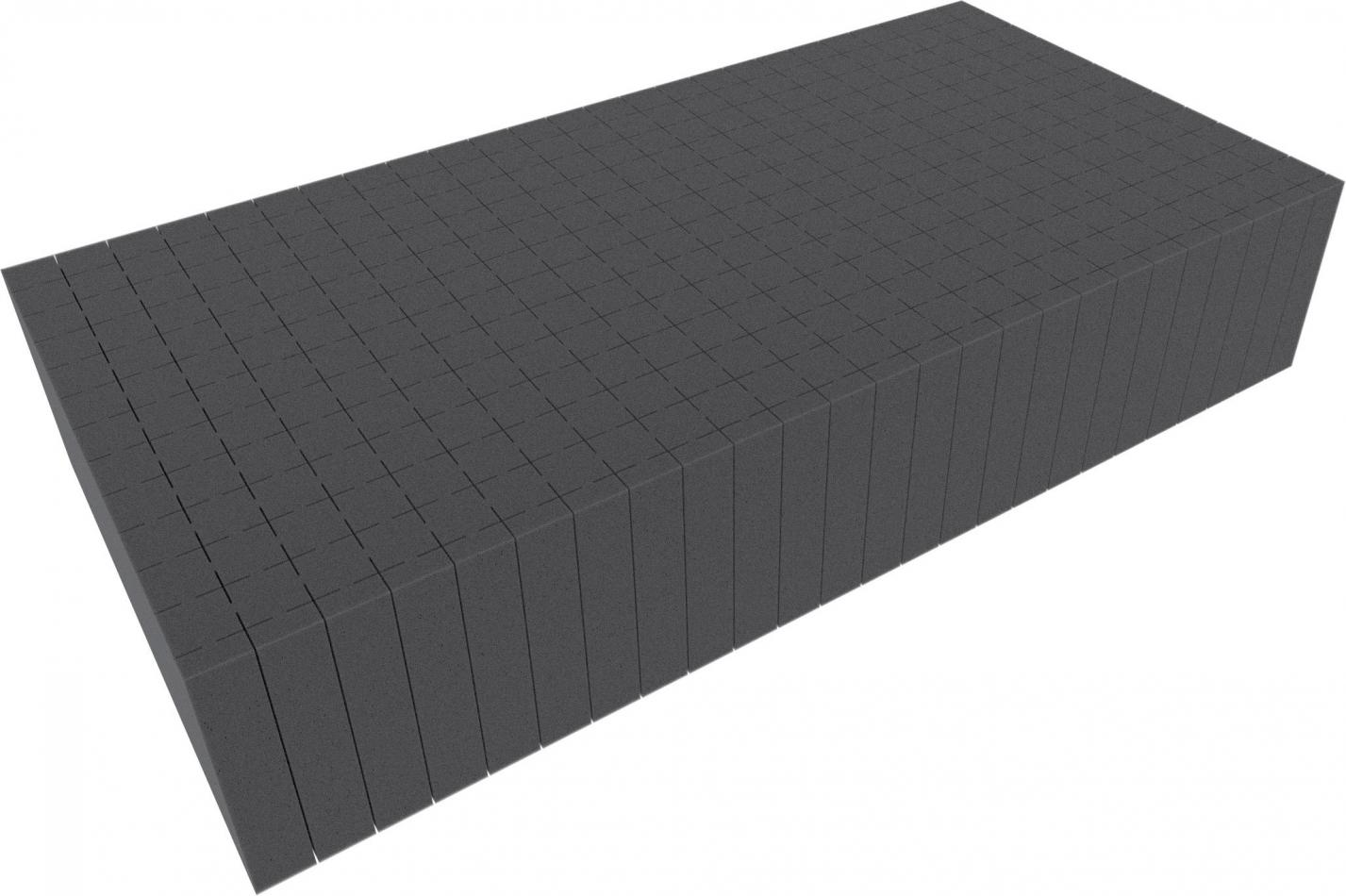 500 mm x 250 mm x 100 mm - Raster 20 mm - Pick and Pluck / Pre-Cubed foam tray