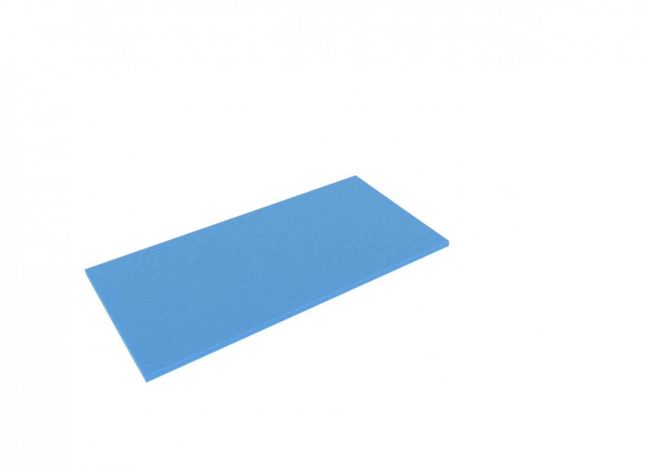AABA010blue 500 mm x 250 mm x 10 mm colored foam for Shadowboard blue