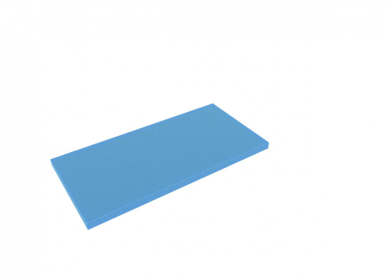 AABA020blue 500 mm x 250 mm x 20 mm colored foam for Shadowboard blue