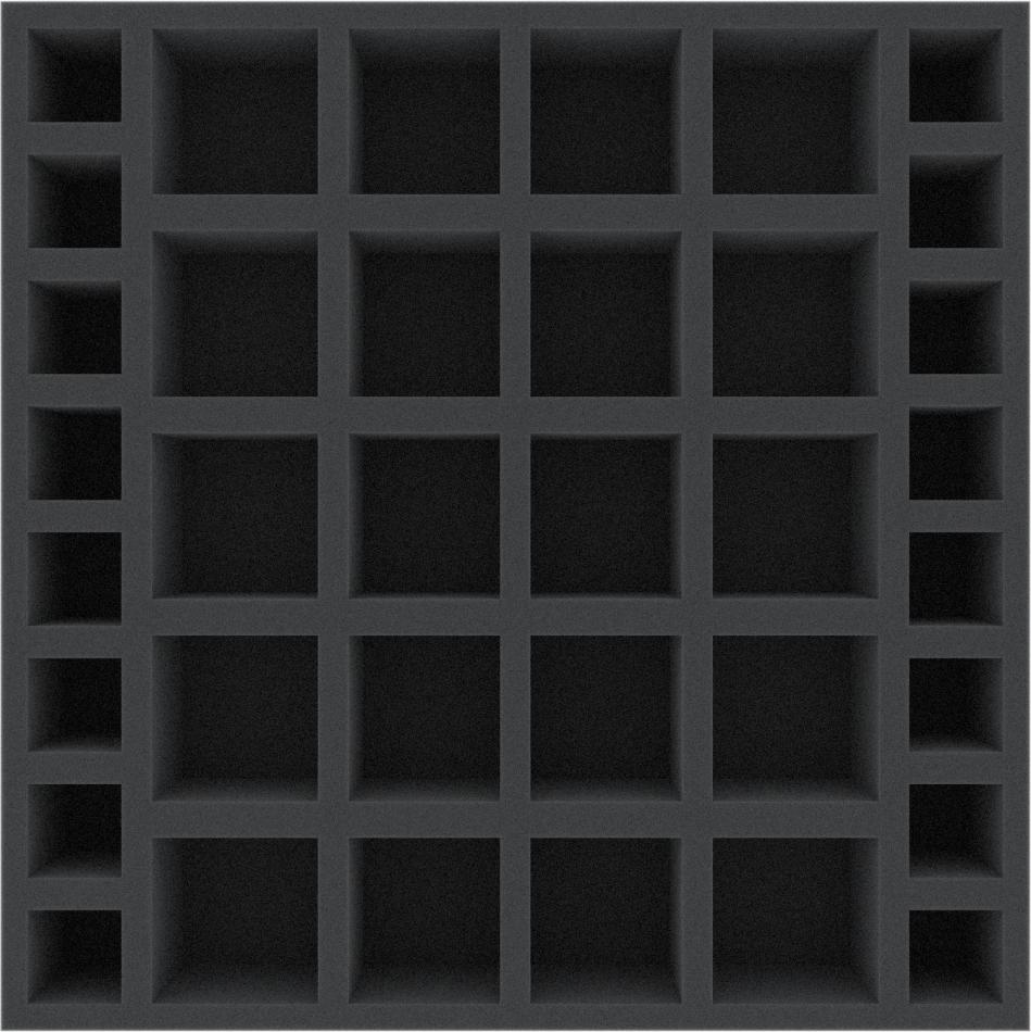 AFGK055BO 285 mm x 285 mm x 55 mm (2.16 inches) foam tray for board game boxes