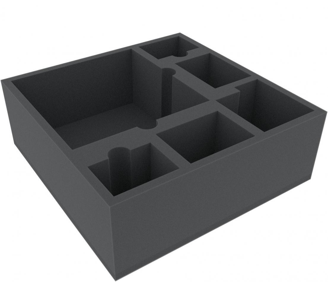 AFLC100BO 285 mm x 285 mm x 100 mm (4 inches) foam tray for board game boxes