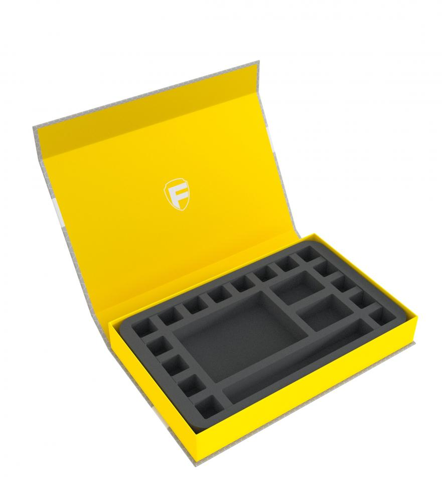 Feldherr Magnetic Box yellow for tabletop role-playing game - with dice tray