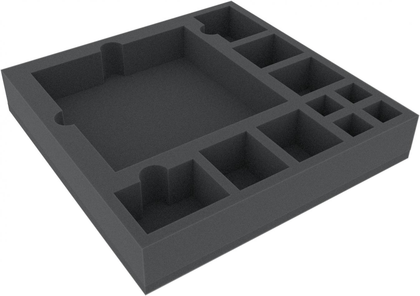 AFJB050BO 285 mm x 285 mm x 50 mm (2 inches) foam tray for board game boxes