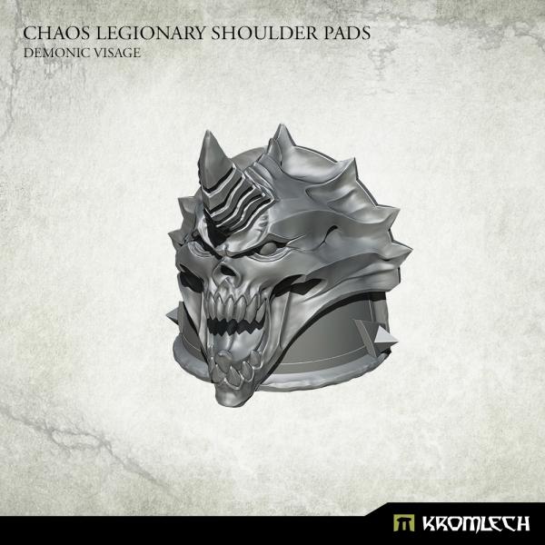 Chaos Legionary Shoulder Pads: Demonic Visage