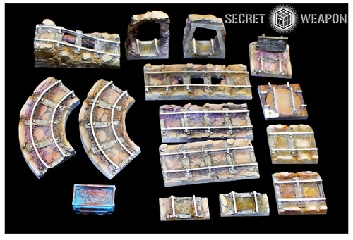 Tablescapes Realms, Caverns and Mines: TRACK SET (8) CASE