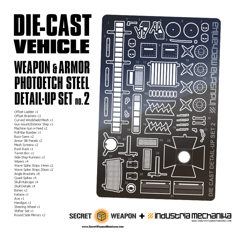 Diecast Vehicle Detail Set 2