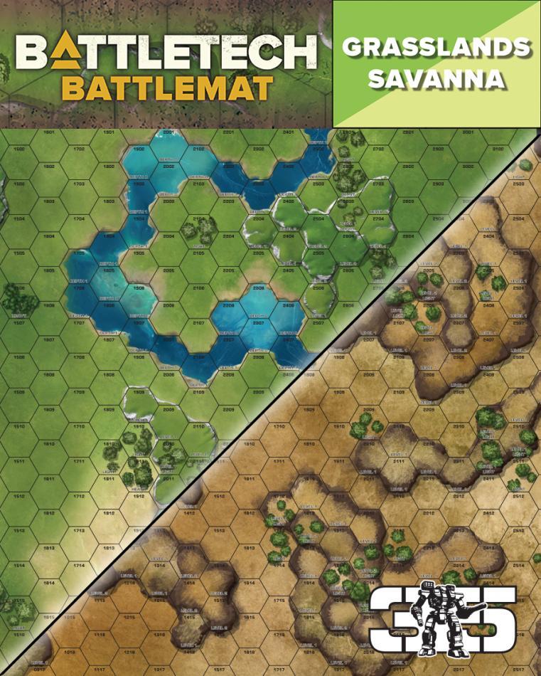 BattleTech Battle Mat Grasslands Savanna