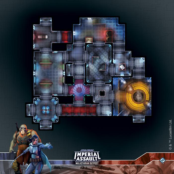 Malastarian Outpost Raid Map: Star Wars Imperial Assault