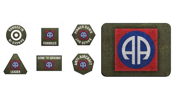 82nd Airborne Division Tokens (x20) & Objectives (x2)