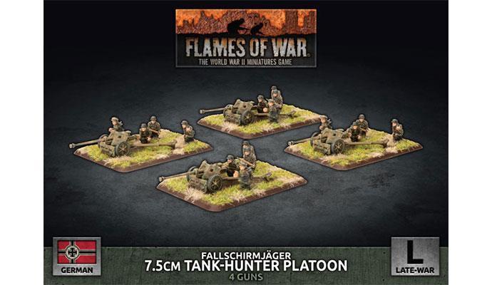 Fallschirmjager 7.5cm Tank Hunter Platoon (x4 Plastic)
