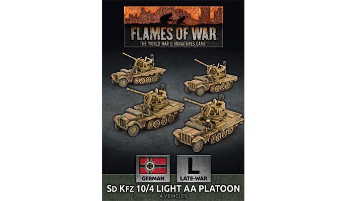 SdKfz 10/4 Light AA Platoon (x4 Plastic)