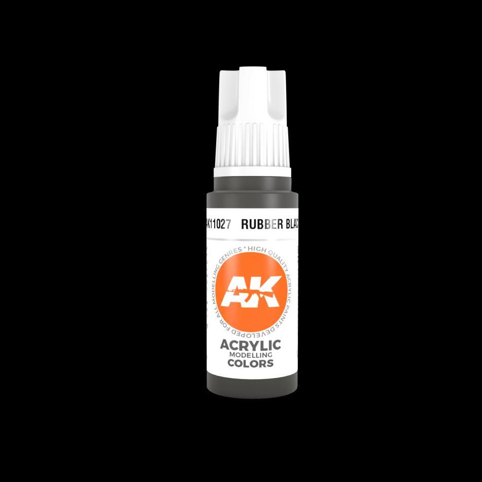 AK Acrylic - Rubber Black 17ml