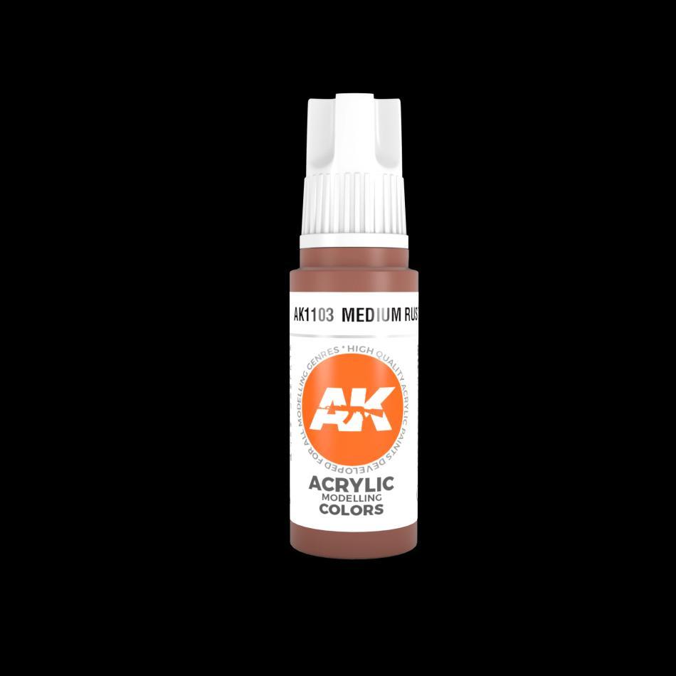 AK Acrylic - Medium Rust 17ml