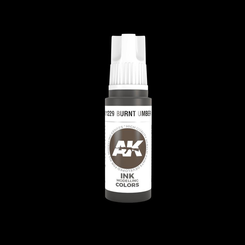 AK Acrylic - Burnt Umber INK 17 ml
