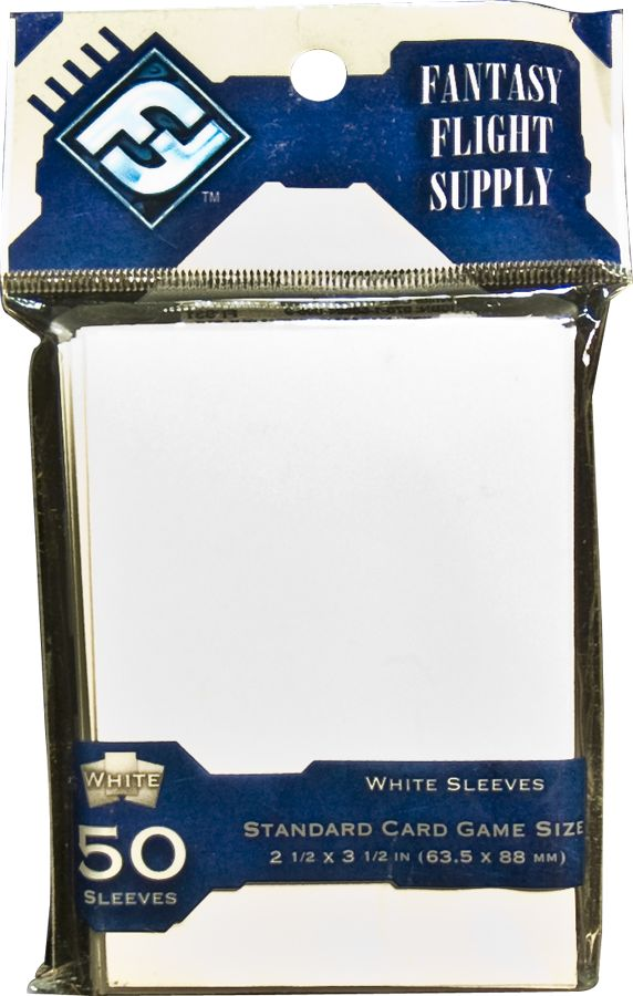 Standard Card Game Sleeves - WHITE DPD