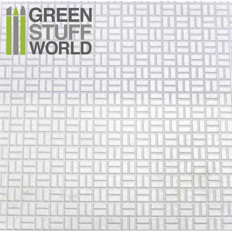 ABS Plasticard - OFFSET RECTANGLE Textured Sheet - A4