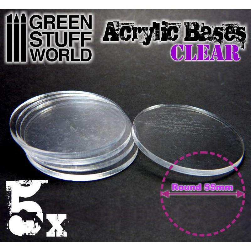 Acrylic Bases - Round 55 mm CLEAR