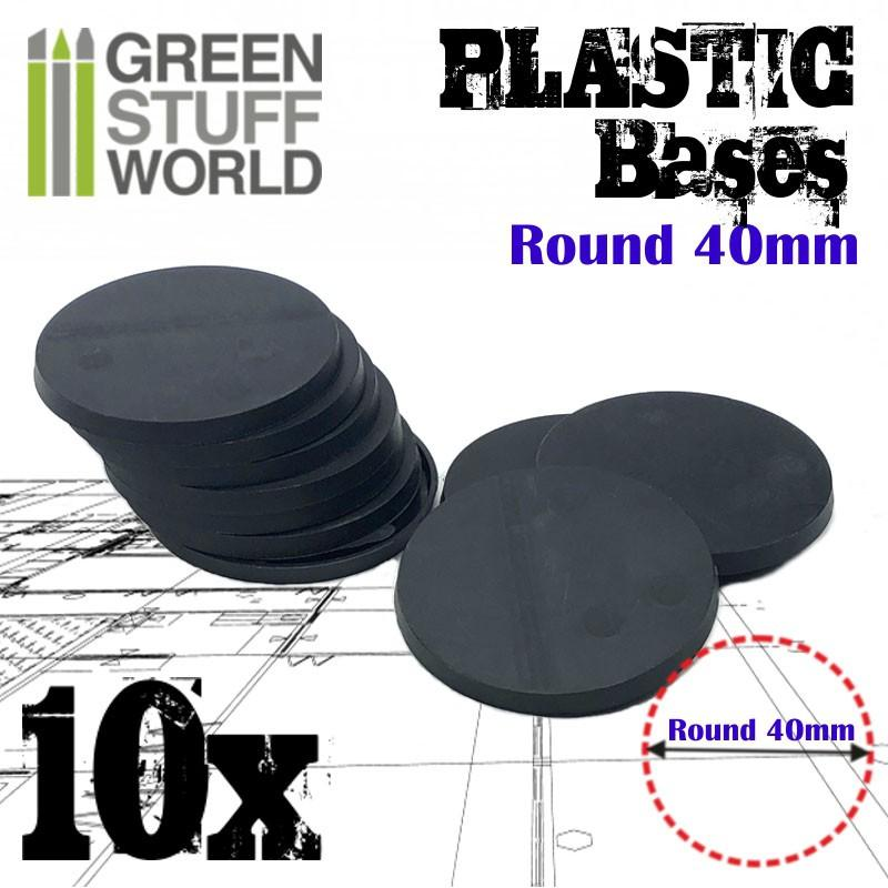 Plastic Bases - Round 40 mm BLACK