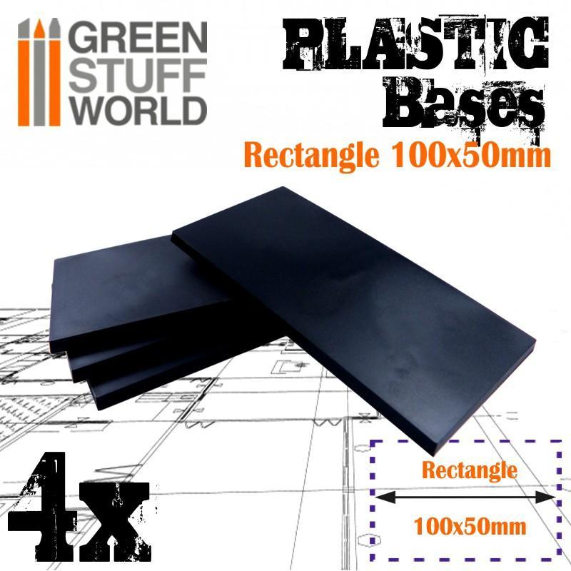 Plastic Bases - Rectangle 100x50mm