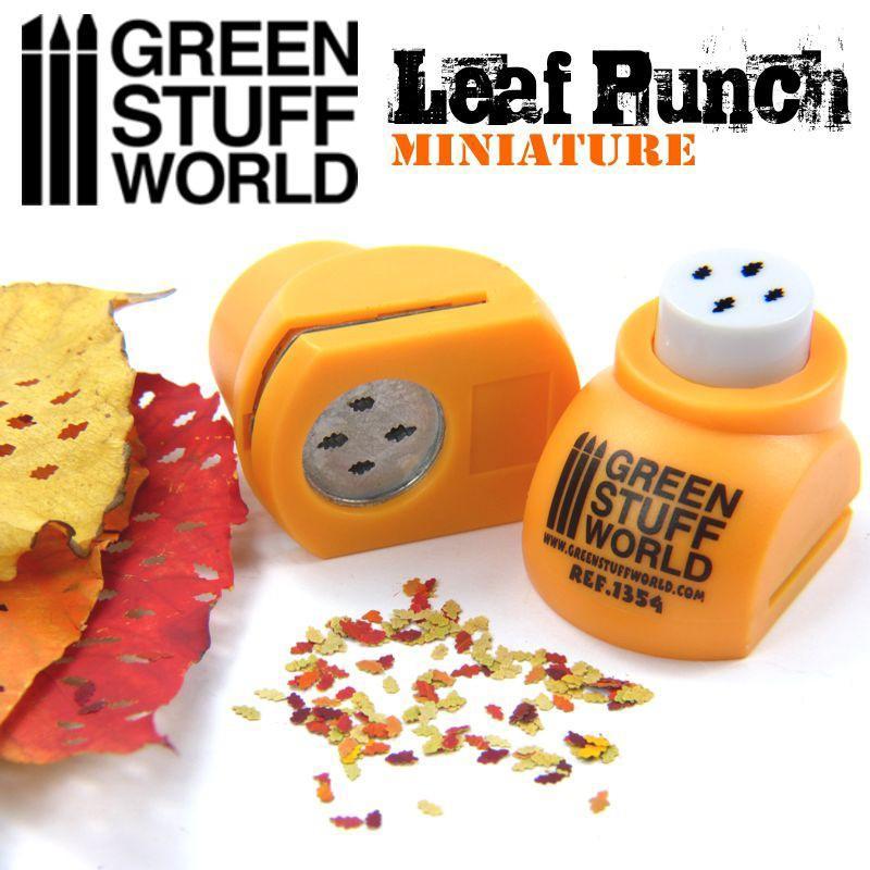 Miniature Leaf Punch ORANGE 1354