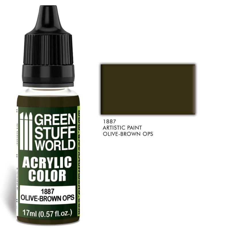 Acrylic Color OLIVE-BROWN OPS