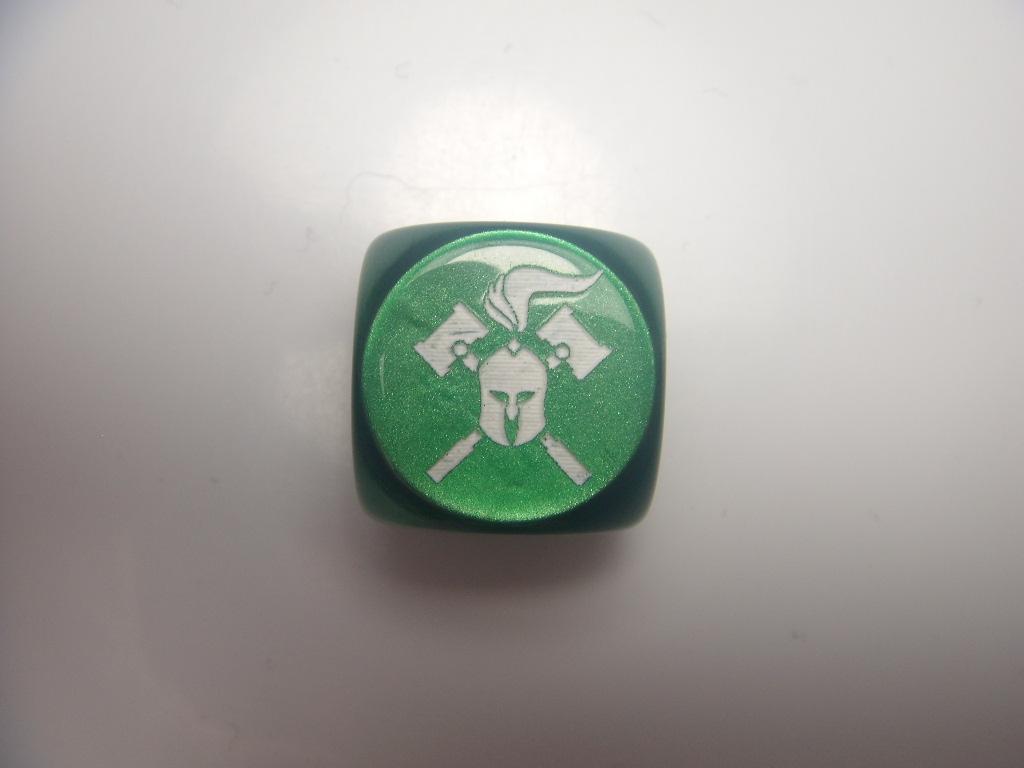 Facehammer Dice - Velvet Green/White