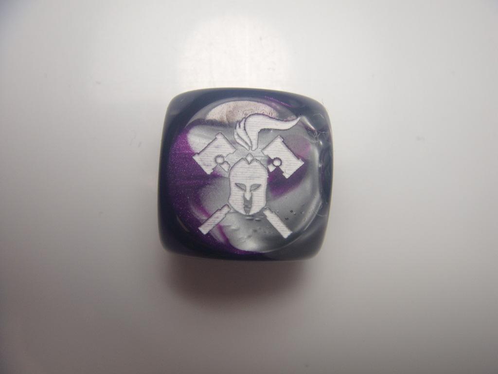 Facehammer Dice - Gemini Purple-Steel/White