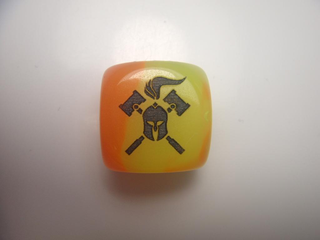 Facehammer Dice - Gemini Orange/Yellow/Black