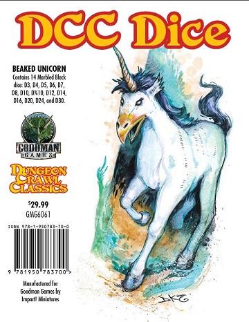 Beaked Unicorn Dice: Dungeon Crawl Classics RPG