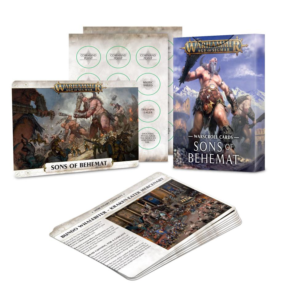 Warscroll Cards: Sons of Behemat (English)