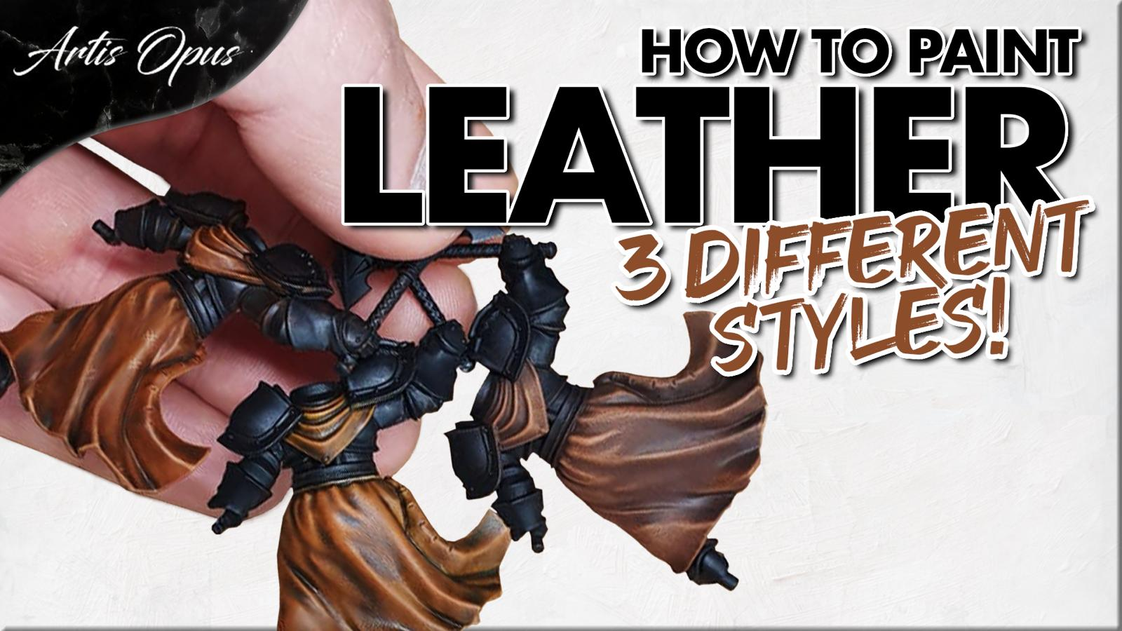 Artis Opus Painting Leather Tutorial Paint bunle