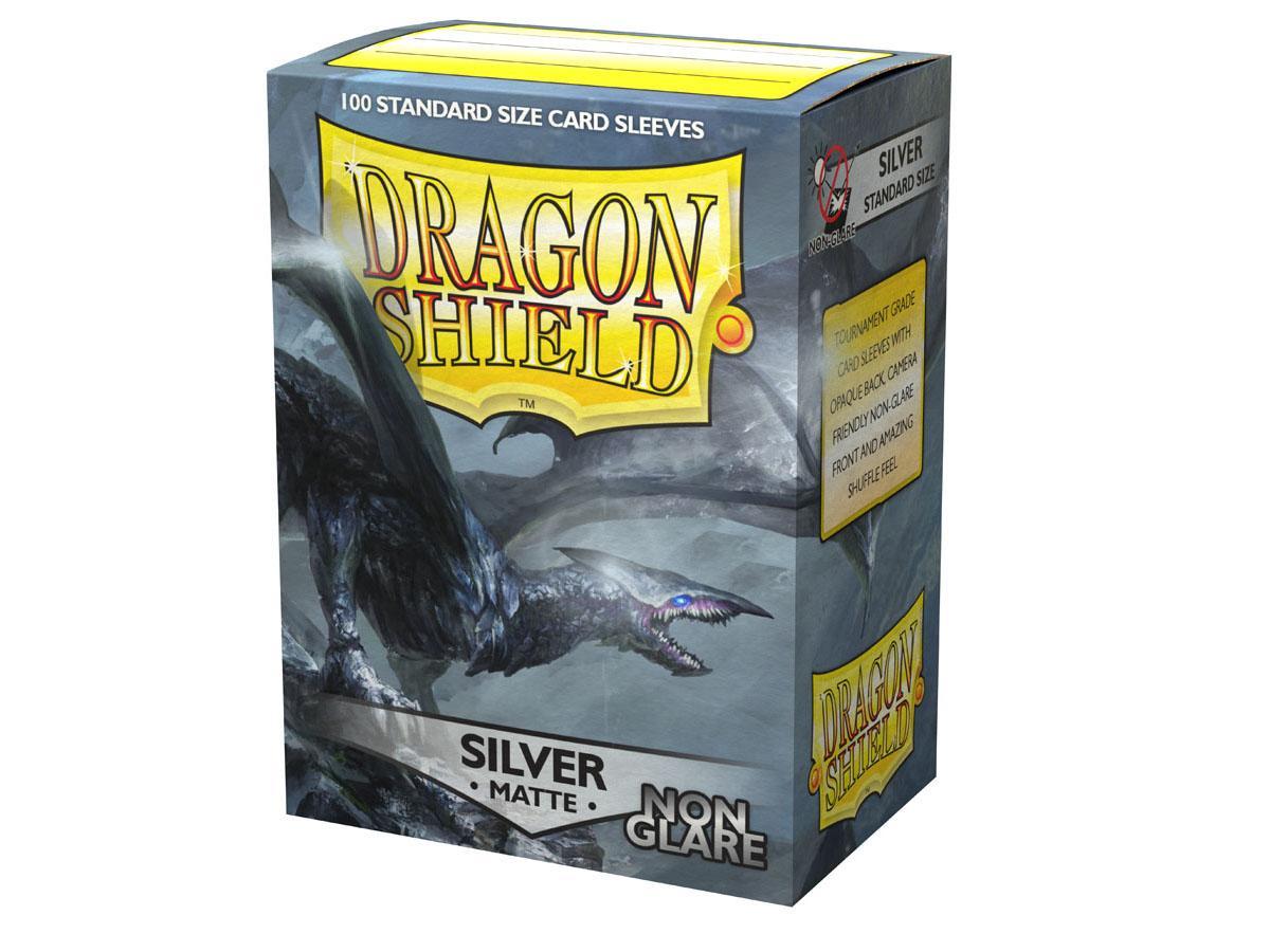 Dragon Shield Sleeves Non-Glare Matte Silver (100)