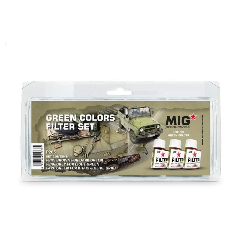Green Colors Filter Set