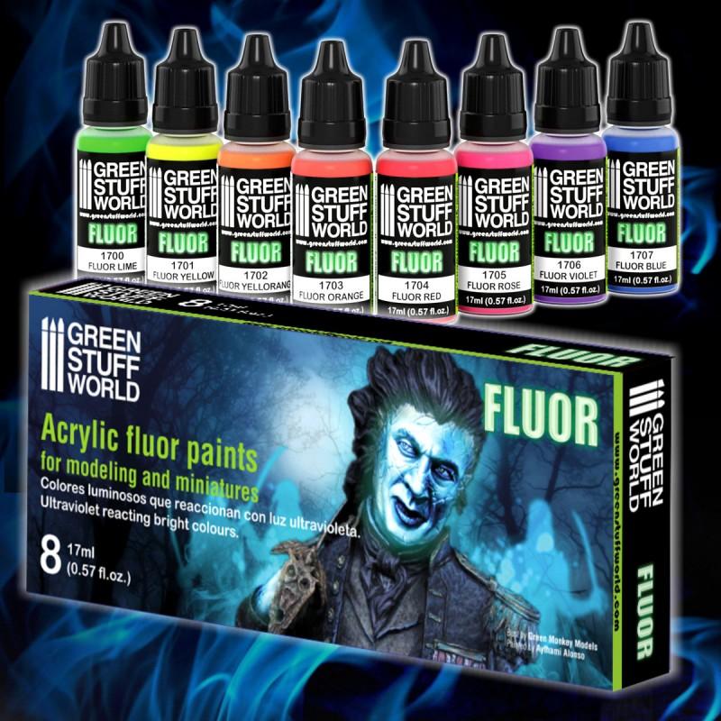 Set x8 Fluor Paints