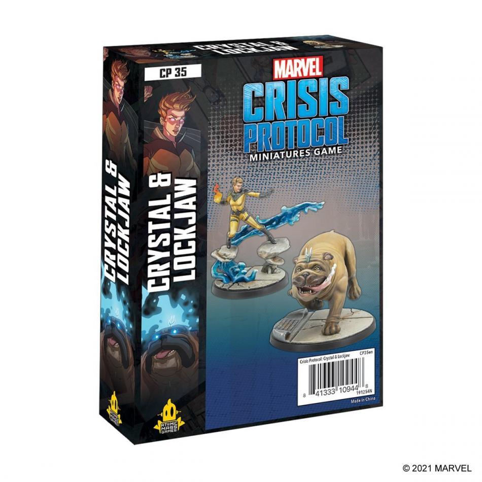 Crystal and Lockjaw: Marvel Crisis Protocol
