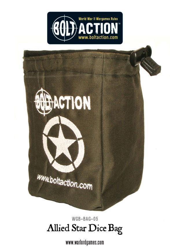Bolt Action Allied Star Dice Bag