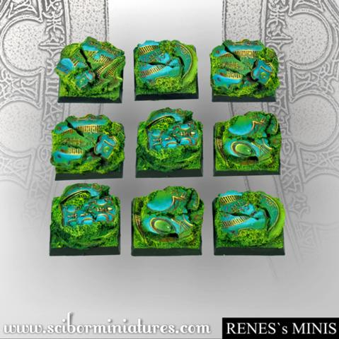 Elven Sky 25mm square bases (5)