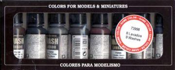 Vallejo Washes Set - 8 x 17ml