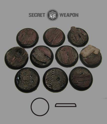 Round Lip: 30mm Trench Works Bases (10)
