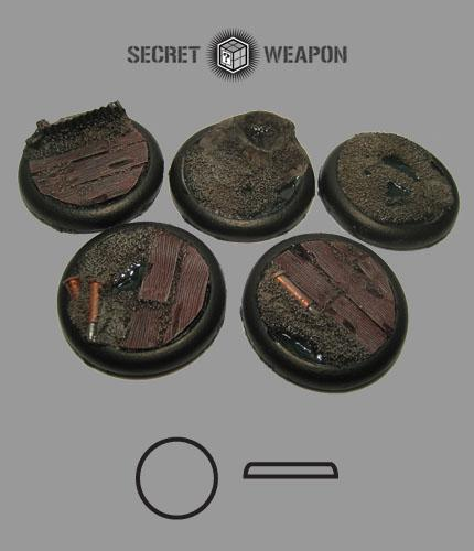 Round Lip: 40mm Trench Works Bases (5)