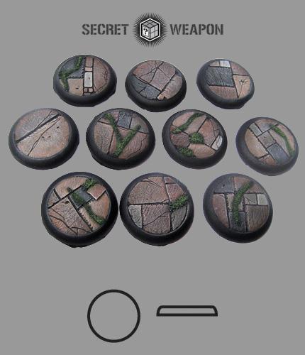 Round Lip: 30mm Flagstone Bases (10)