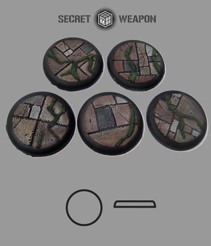 Round Lip: 40mm Flagstone Bases (5)