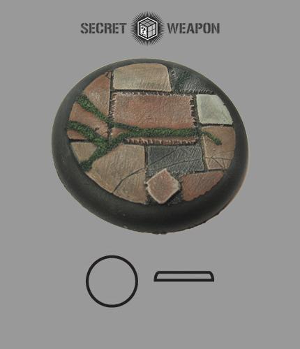 Round Lip: 50mm Flagstone Base 01 (1)