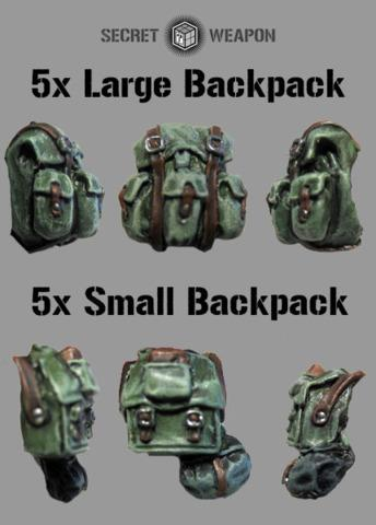(10) Mixed Backpack Set (5x Large 5x Small)