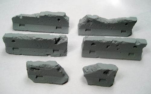 Terrain: Jersey Barriers - Damaged (5)