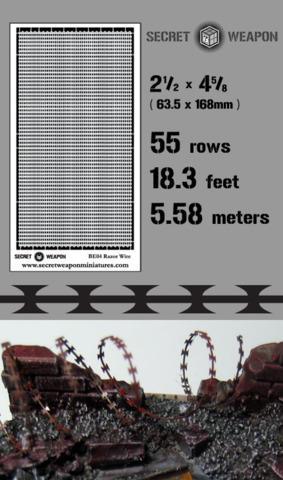 Brass Etch Razor Wire (18 feet of razor wire!)